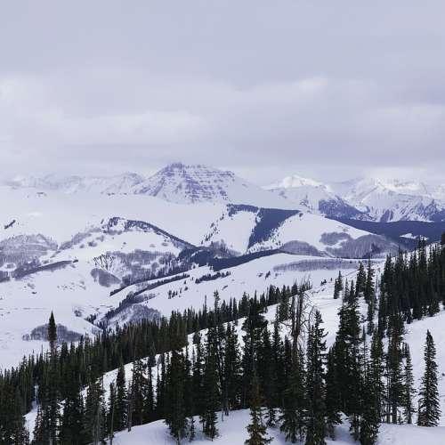 Colorado Mountains Landscape Mountain Snow Outdoor