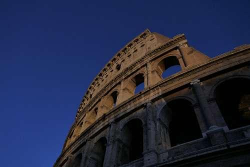 Colosseum Rome Italy Architecture Romano Monument