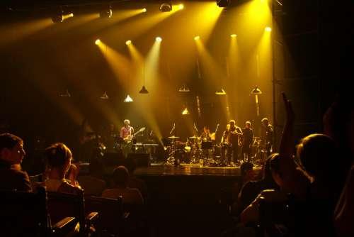 Concert Spotlight Scene Address By Hall Light