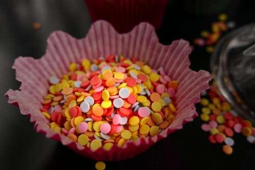 Confetti Nonpareils Sugar Pearls Frosting Colorful
