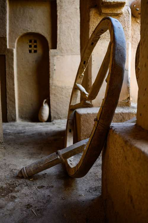 Craft Tradition Wheel Wood Morocco Kasbah Tourism