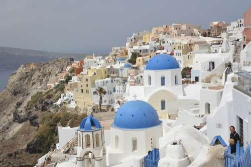 Crete Island Of Santorini Architecture Oia Greece