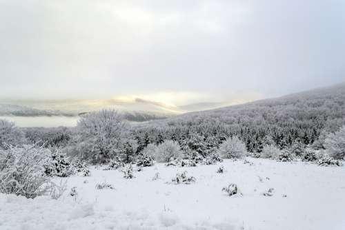 Croatia Lika Snow Winter