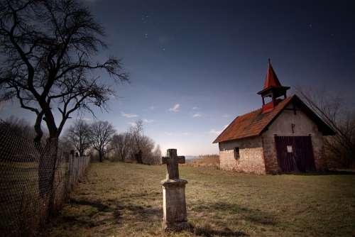 Cross Night Religion Mystic Mysterious