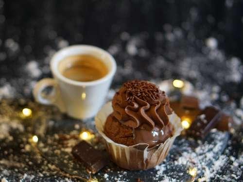 Cupcake Chocolate Coffee Time Eat Cake Chick
