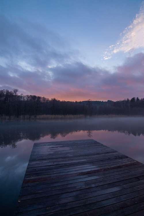 Dawn Sky Water West Fade