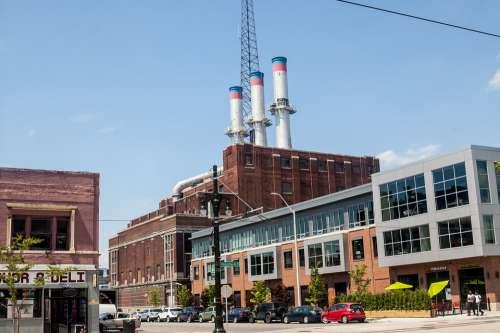 Detroit Midtown Smoke Stacks Daytime