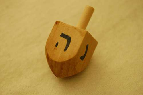 Dreidel Hannukah Toy Judaism Wooden Hebrew