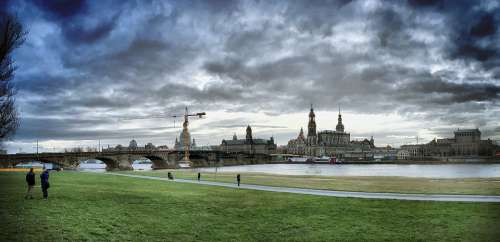 Dresden Elbe Canaletto Saxony City Architecture