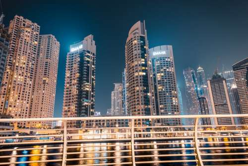 Dubai Asia Orient Marina Skyline Skyscrapers