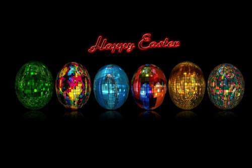 Easter Easter Eggs Abstract Color Colorful Design