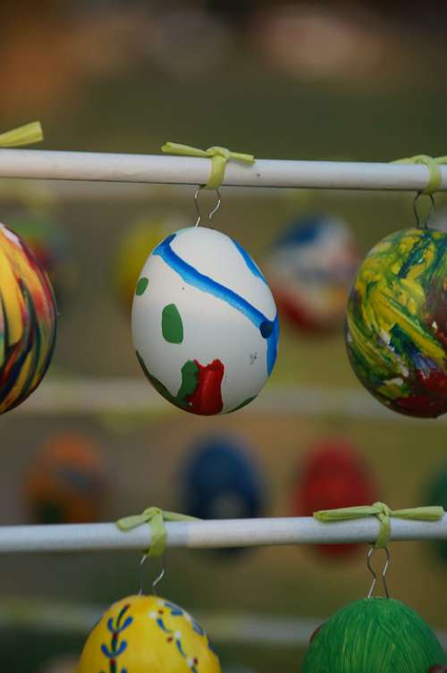 Easter Easter Eggs Colorful Easter Decoration