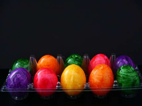 Easter Eggs Easter Colorful Colored Color Egg