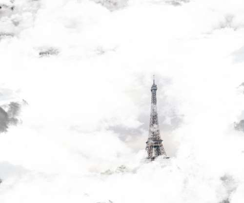 Eiffel Tower Tower Paris Clouds Sky Fantasy