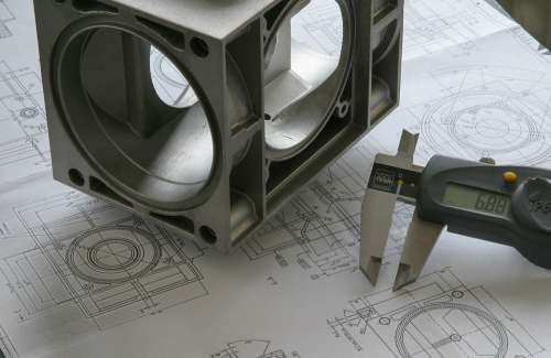 Engineer Drawing Blueprint Technology Sketch