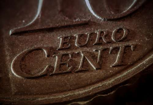 Euro Coin Penny Money Coins Finance Business