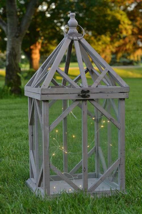 Fairy Lights Lantern Summer Grass