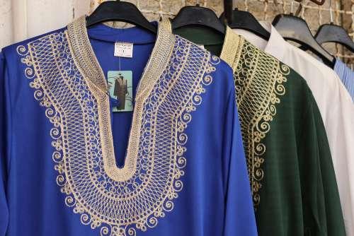 Fashion Dresses Arab Traditional Dress Blue Female