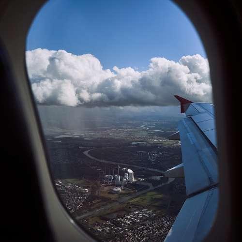 Flight Clouds Aircraft Landing Main Landscape