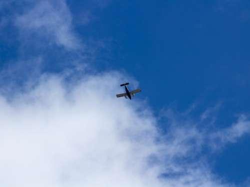 Flying Power Aircraft Passenger Propeller Wing