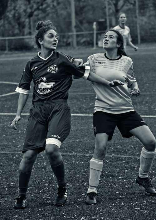 Football Women Woman Body Duel Sport
