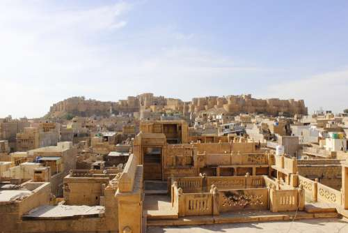 Forts Places Jaisalmer Fort Architecture Building