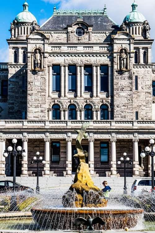Fountain Boy Legislative Building Victoria Bc