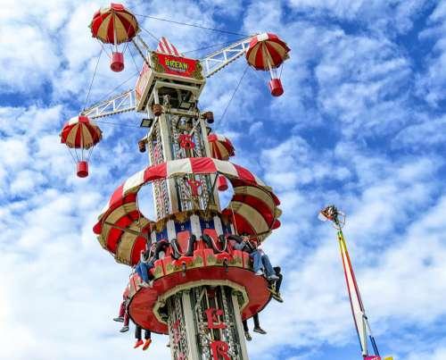 Funfair Brean Brean Leisure Park Fun Fair Sky Tower