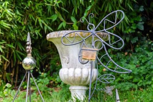 Garden Garden Decoration Plant Pot Dragonfly Green