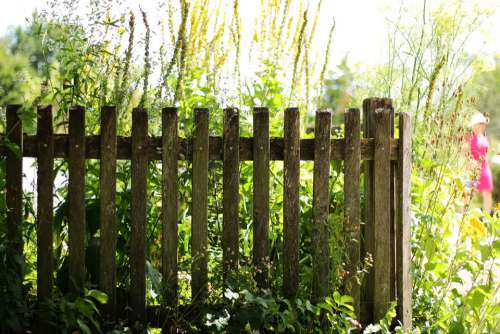 Garden Fence Fence Cottage Garden Wood Fence Paling