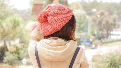 Girl Hat Look Tree Sad Daughter People The Nice