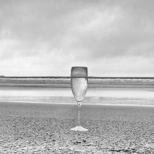 Glass Beach Line Wine Cloud Sky Minimal Sea