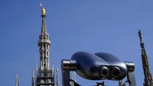 Gothic Cathedral Binoculars Landscape Sky Travel