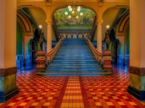 Grand Staircase Iowa State Capitol Inside Interior