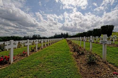 Graves Verdun France World War Dead Sky Military