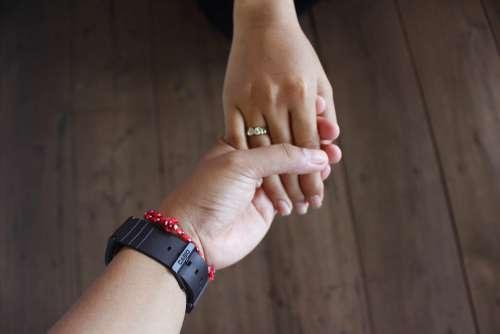 Hand Holding Love Family