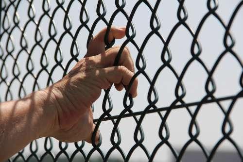 Hand Grid Finger Touch Imprisoned