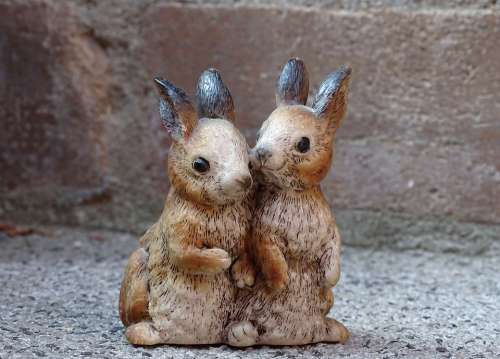 Hare Bunny Couple Couple Figure Easter