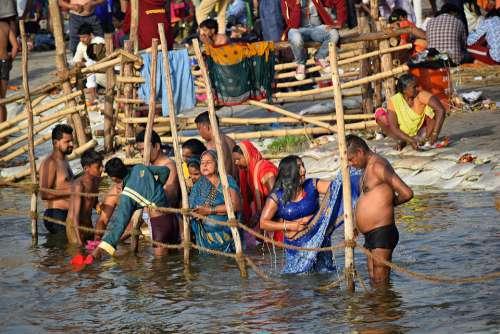 Holydip Kumbh Pragraj Crowd People India Culture