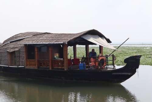 Houseboat Boat Backwater Kerala India