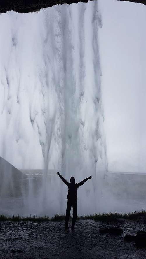 Iceland Waterfall Landscape Nature Scenic Falls