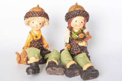 Imp Figures Autumn Autumn Decoration Dwarfs Small