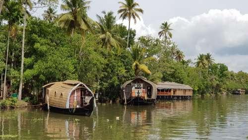 India Backwaters Cochin Boats