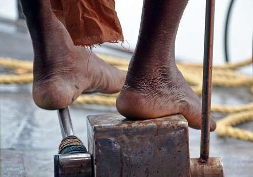 India Backwaters Cochin Boat Feet