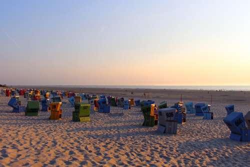 Island Langeoog East Frisia Beach North Sea Coast