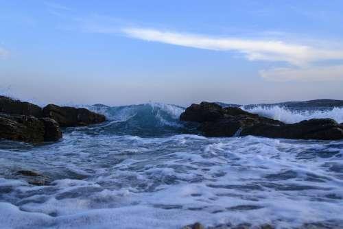 Island Sea Wind South Wind Waves Adriatic Sea