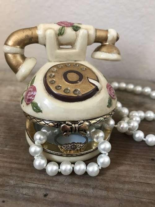 Jewelry Trinket Box Pearls Shabby Chic Box Gift