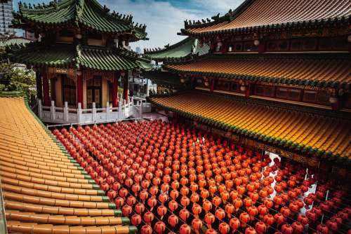 Kaohsiung Temple Taiwan Chinese Old Traditional