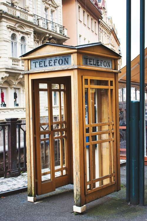 Karlovy Vary Phone Booth Old Spa Lantern Phone