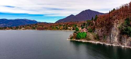 Lago Maggiore Leggiuno Landscape Overview Mountain